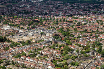 Aerial View of Hounslow West, London