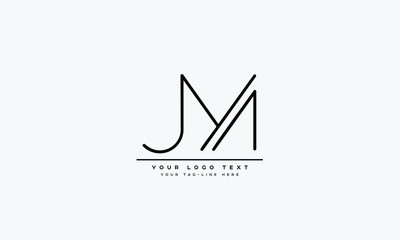 JM ,MJ ,M ,J  Letter Logo Design with Creative Modern Trendy Typography