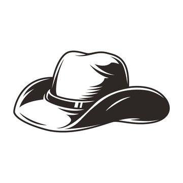 Elegant cowboy hat vintage concept