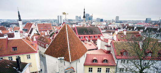 Fototapete - Streets of old Tallinn