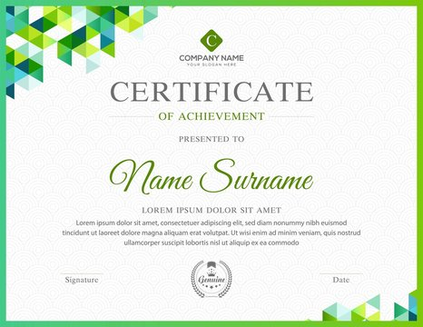 Abstract certificate template with luxury and modern pattern,diploma,Vector illustration