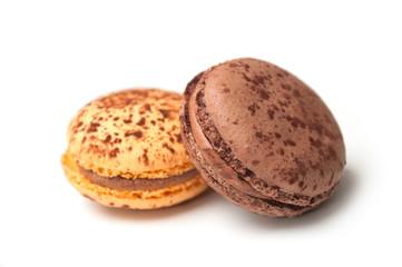 Foto auf Leinwand Macarons Closeup of french macarons on white background