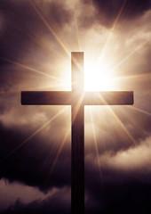 cross with sunlight