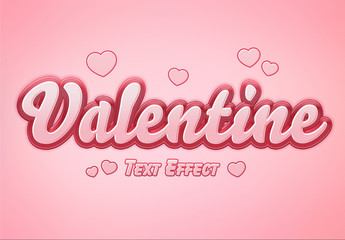 Valentine's Day Text Effect Mockup