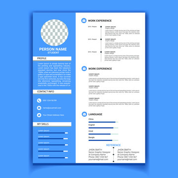 Clean and Modern Cv Resume Template