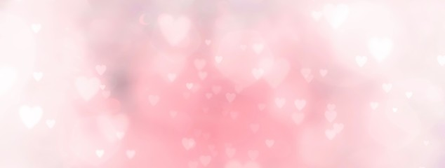 Photo sur Aluminium Montagne Abstract pastel background with hearts - concept Mother's Day, Valentine's Day, Birthday - spring colors