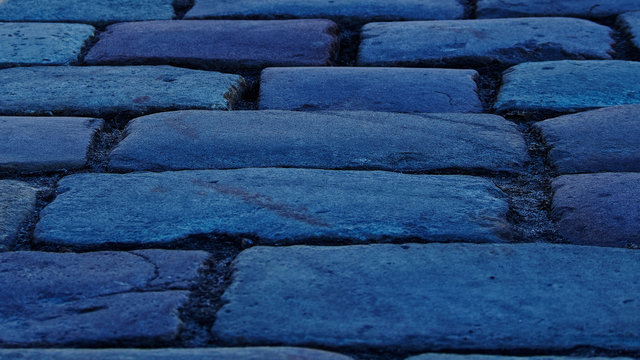 Cobblestones that paved the Palace square of St. Petersburg