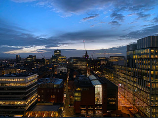 Manchester Skyline at Dawn