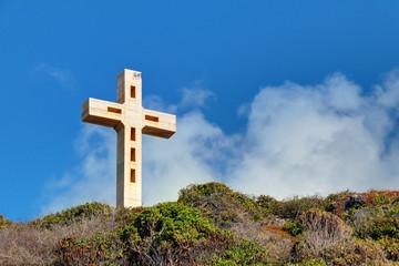 La croix de la pointe des châteaux en Guadeloupe