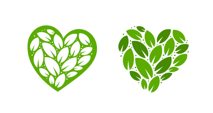Ecology logo. Nature, natural label. Vector illustration