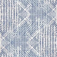 Modèle sans couture de texture vecteur lin français gris. Coup de pinceau grunge abstrait tissé ornemental. Textile de style ferme de campagne. Marques de détresse irrégulières sur toute l& 39 impression en bleu gris.