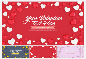 Valentine's Day Card Layout