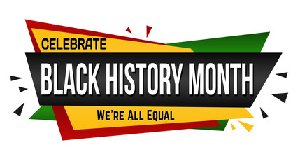 Black history month banner design
