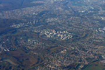 Survol de la France entre Paris et Toulouse