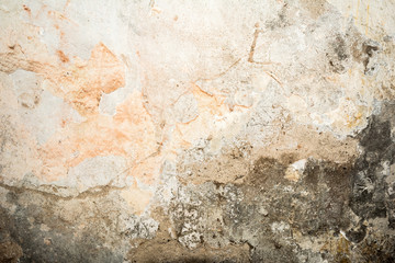 Fotobehang Oude vuile getextureerde muur Old antiquity street wall with dust and scratched grunge textures with paint stains, cracks, stucco wall background