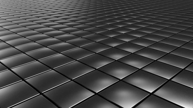 Abstract 3d objects pattern background cubes and hexagons, 3d Rendering