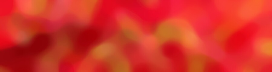 Fototapeten Rot blurred bokeh horizontal background graphic with crimson, firebrick and coffee colors and free text space
