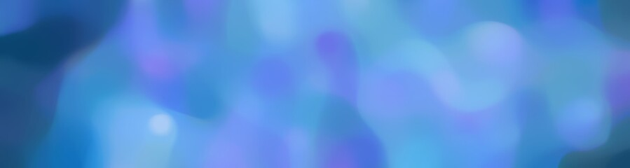 blurred horizontal background with corn flower blue, teal blue and baby blue colors and space for text