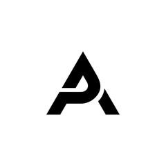 Obraz Letter PA initial logo design - fototapety do salonu