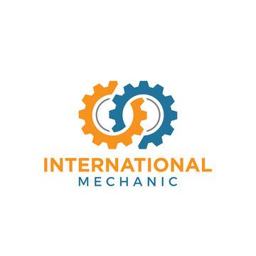 mechanic gear logo icon vector template