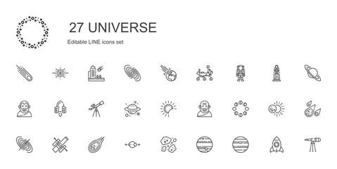 universe icons set Fotomurales