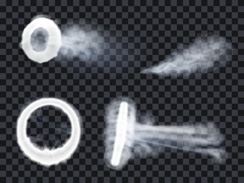 Vape steam ring smoke exhale puff set