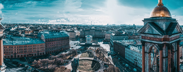 Panoramic view from the roof of St. Isaac's Cathedral. Saint Petersburg. Russia. Fototapete