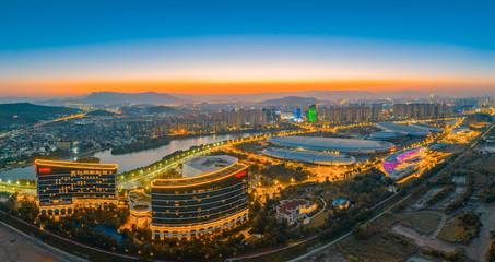 Fototapeta Night view of Fuzhou City, Fujian Province, China