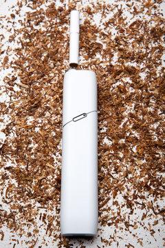 electronic smoke device tobacco background