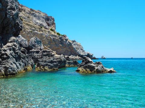 Rhodos - Meerlandschaft am Traganou Beach