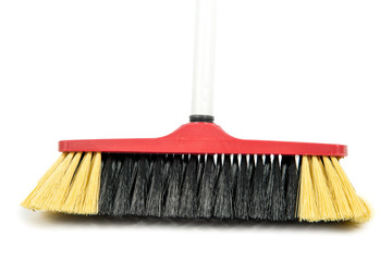 broom isolated on the white background