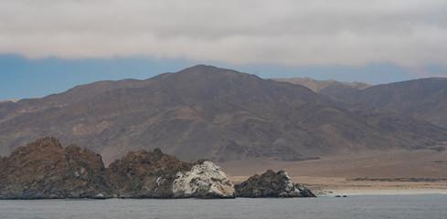 Blick auf die chilenische Küstenwüste von der Isla Pan de Azucar