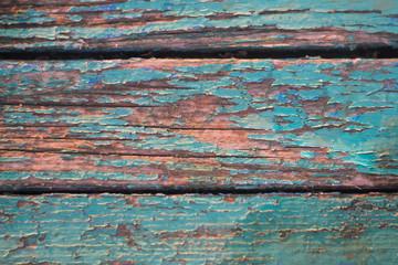 Poster de jardin Texture de bois de chauffage beautiful texture of a wooden fence with old paint
