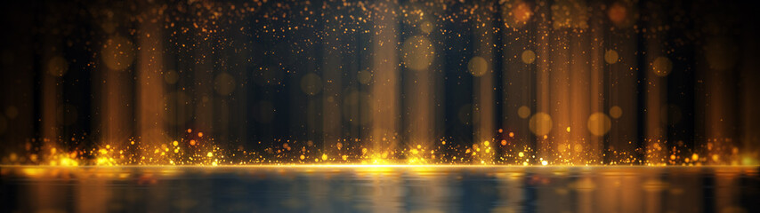 Gold Particle Glitter Luxury Background Fotomurales