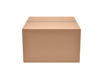 Obraz Pudełko kartonowe na białym tle - fototapety do salonu