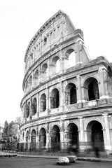 Printed kitchen splashbacks Rome black and white photos of the ancient Colosseum of Rome