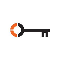Simple key logo icon design vector template