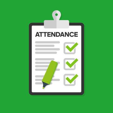 Attendance concept. Vector flat design