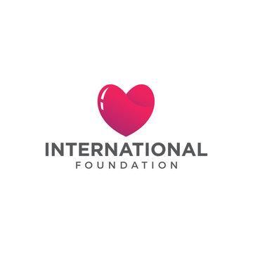 hearth care foundation logo icon vector template