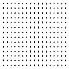 Hand drawn vertical and horizontal parallel dots. Arranged spots. Black lines on white background. Sketch for graphic design