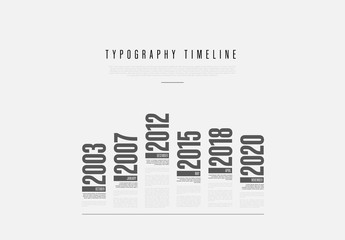 Black and White Typography Timeline Layout