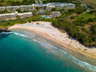 Wall Mural - Aerial view of the Hapuna Beach located on the Big Island in Hawaii