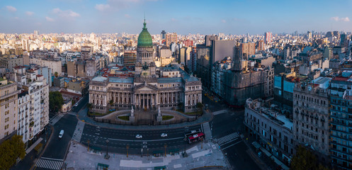 Photo sur Toile Buenos Aires Aerial panorama of the city of Buenos Aires, Argentina