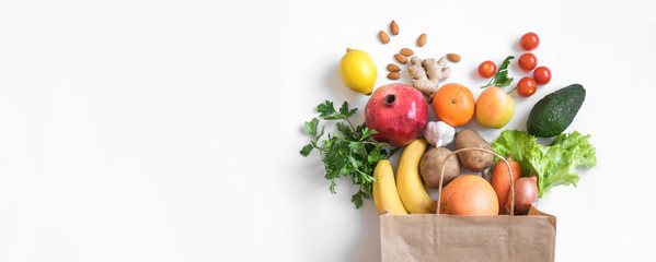 Zelfklevend Fotobehang Kruidenierswinkel Healthy food background