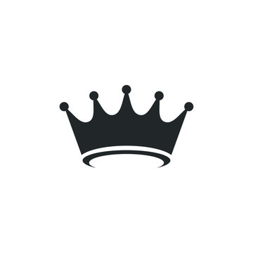 Crown icon template color editable. Crown symbol vector sign isolated on white background illustration for graphic and web design.