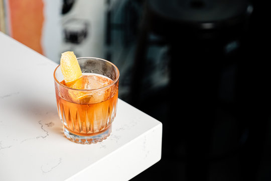 Old Fashioned Cocktail on a bar
