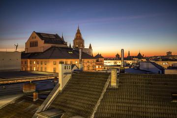 Panorama von Mainz im Sonnenaufgang