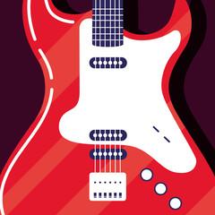 Electric guitar instrument icon vector design