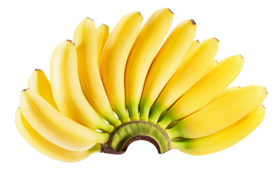 banana bunch isolated on a white background