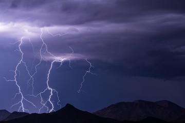Lightning storm Wall mural